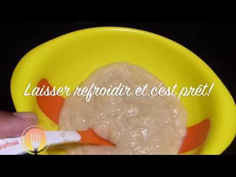 idée-de-petit-déjeuner-pour-bébé-[6-mois-]-|-compote-et-flocon-d'avoine