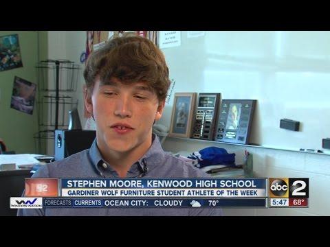 Stephen Moore from Kenwood High School is the Gardiner Wolf Furniture Student Athlete of the Week