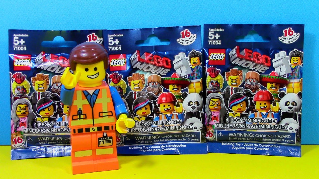 Lego Movie Minifigure With Lego Movie Emmet Lego Blind Bag