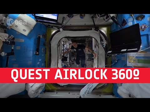 Quest airlock | Space Station 360 (in French with English subtitles available)