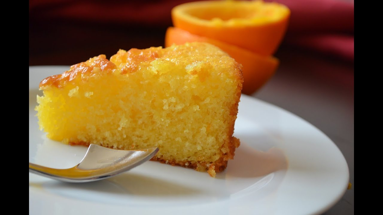 How To Make An Orange Polenta Cake Recipe Youtube