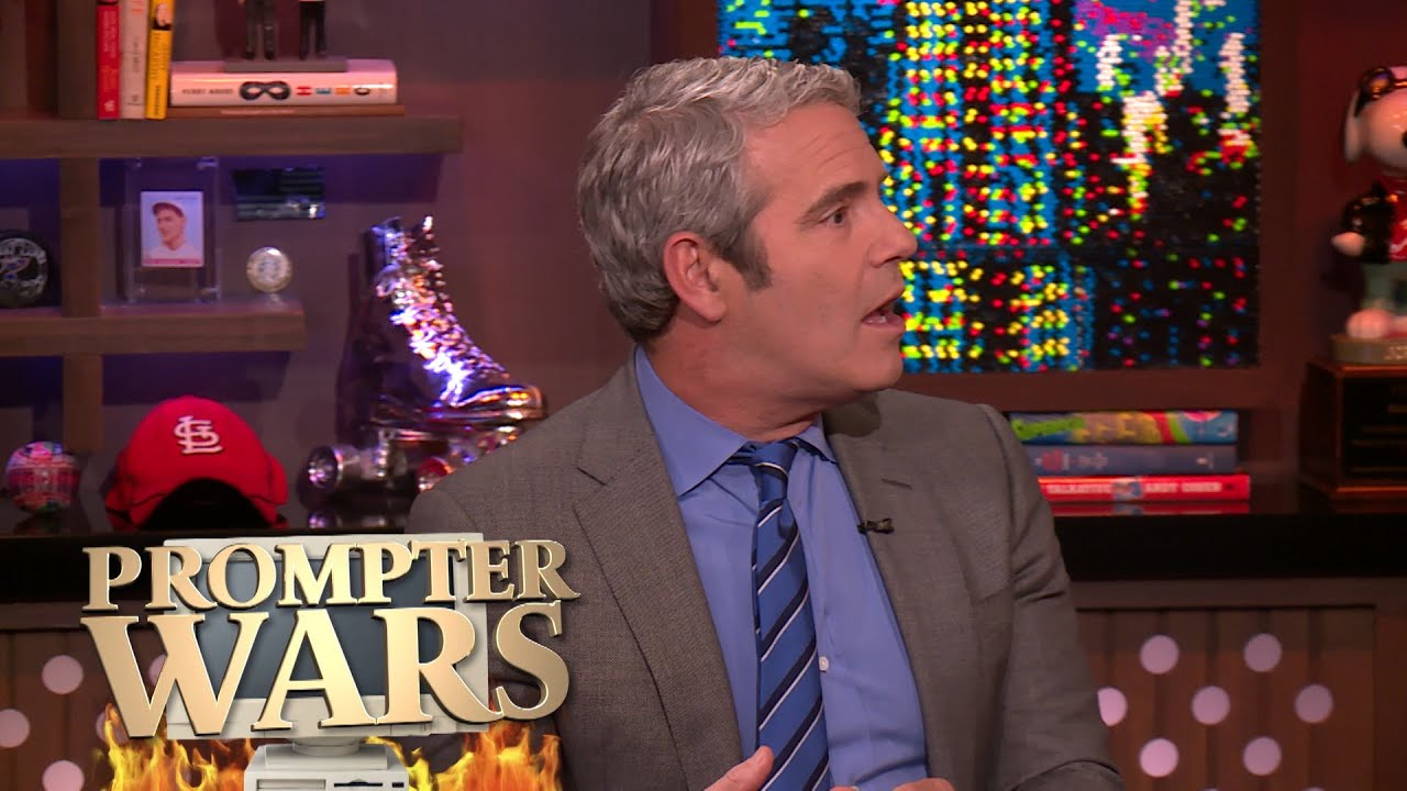 Prompter Wars! Andy and Anderson Face Off | WWHL
