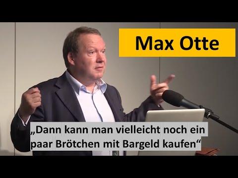 MAX OTTE - Die Bargeldabschaffung bedroht Bürgerrechte