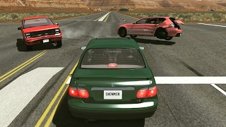 Crossroad Car Crashes Compilation #8 - BeamNG.Drive •ShowMik