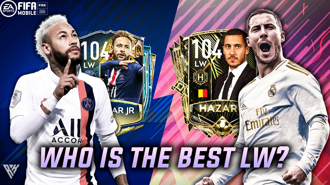 104 UTOTSSF NEYMAR VS 104 HAZARD | WHO IS THE BEST NON ICON LW ON FIFA MOBILE? | 104 HAZARD REVIEW |