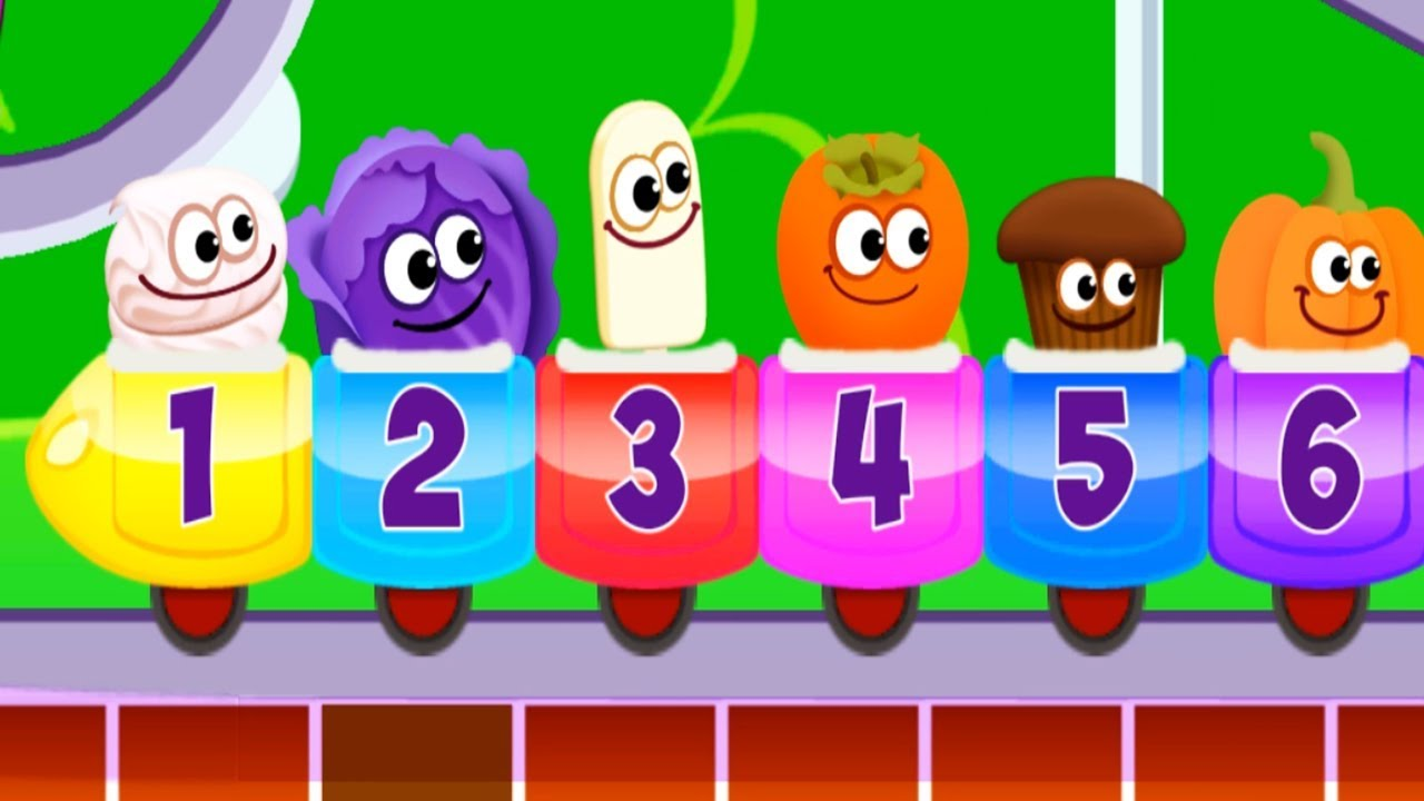 Baby Lean Numbers 1 2 3 with Funny Food 3 - Play Math kids Number ...
