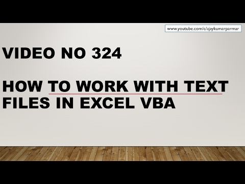 Learn Excel - Video 324 - VBA - How to work with Text Files