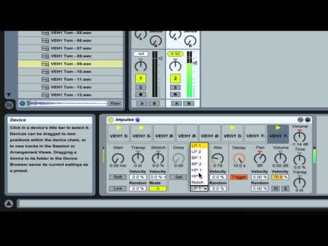 Beginners in Ableton Live 8 - How to use Impulse To Create Drum Loops