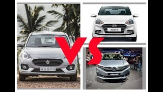 Dzire vs Amaze 2018 vs xcent in hindi||Automotive