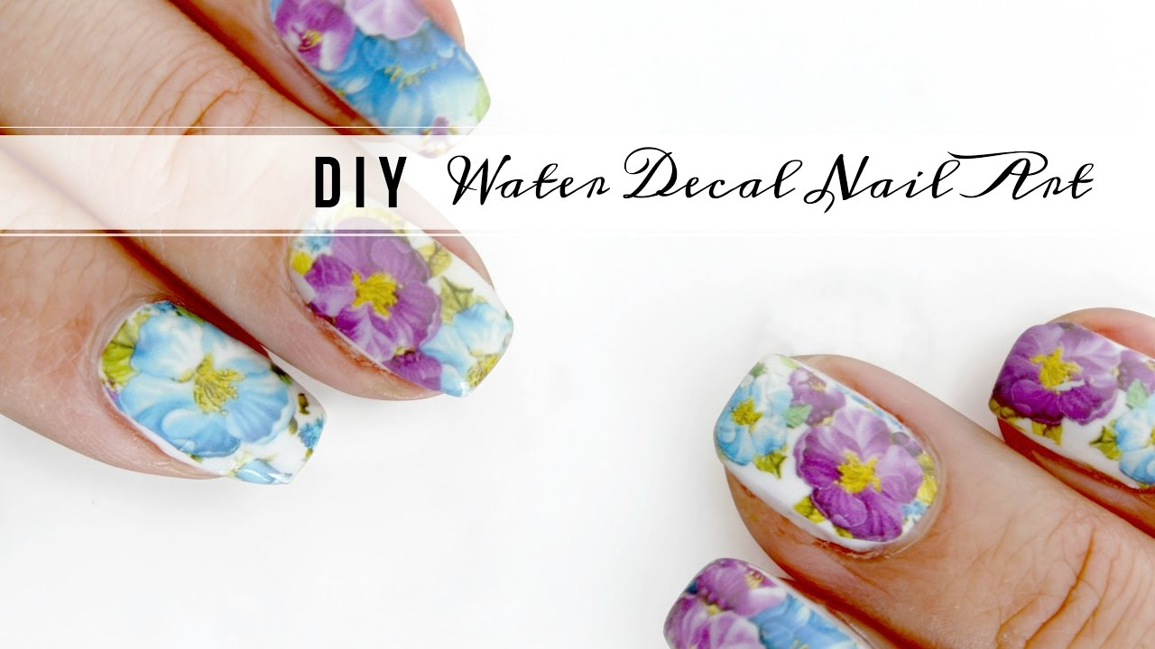 Diy Water Decal Nail Art Only 10 Cents Free Shipping Youtube