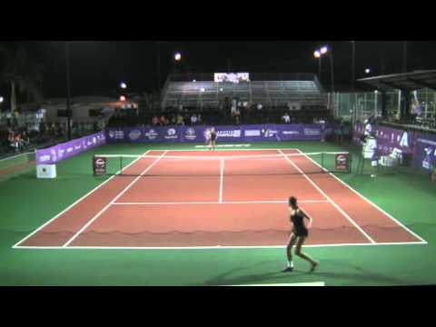 Tampico 50k ITF   2014  QF Patricia Maria TIG        An Sophie MESTACH 3 PART 1