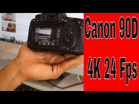 How To Update Canon 90D  Firmware To Get 4K 24 Fps