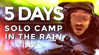 A 5 Day S๐lo Camp in NONSTOP RAIN!