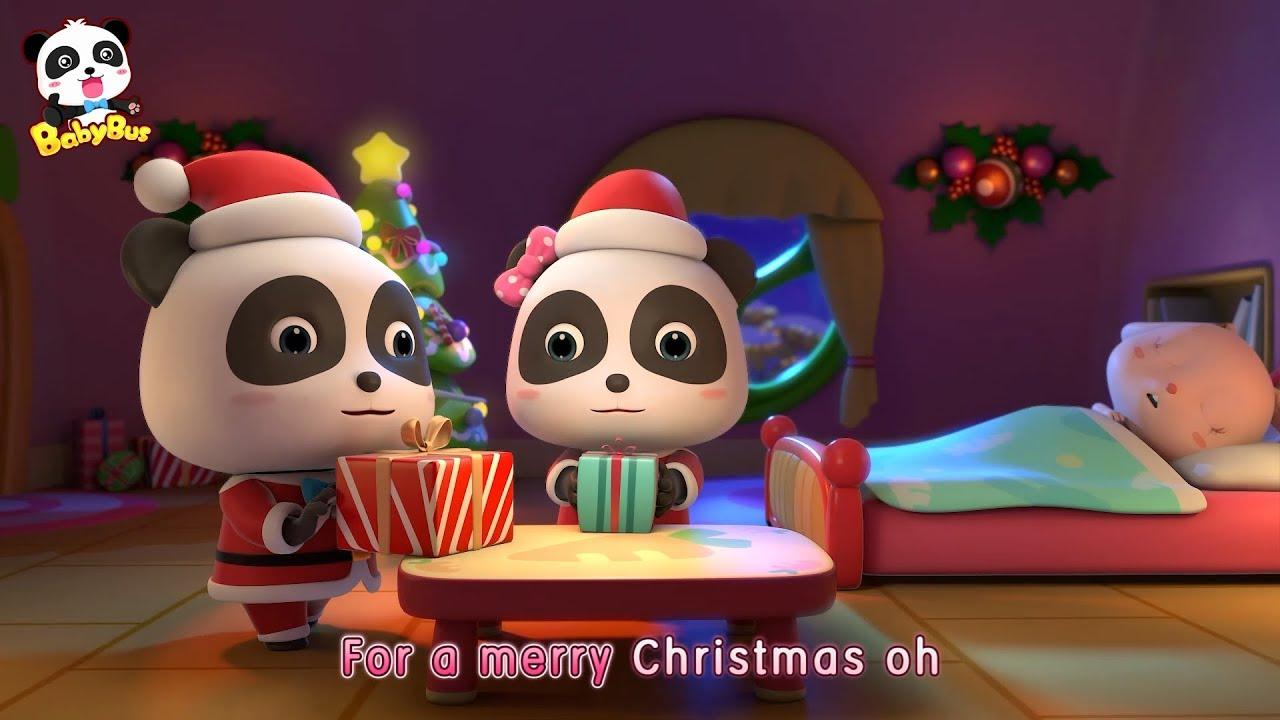 baby pandas surprising gifts christmas stockings christmas song babybus