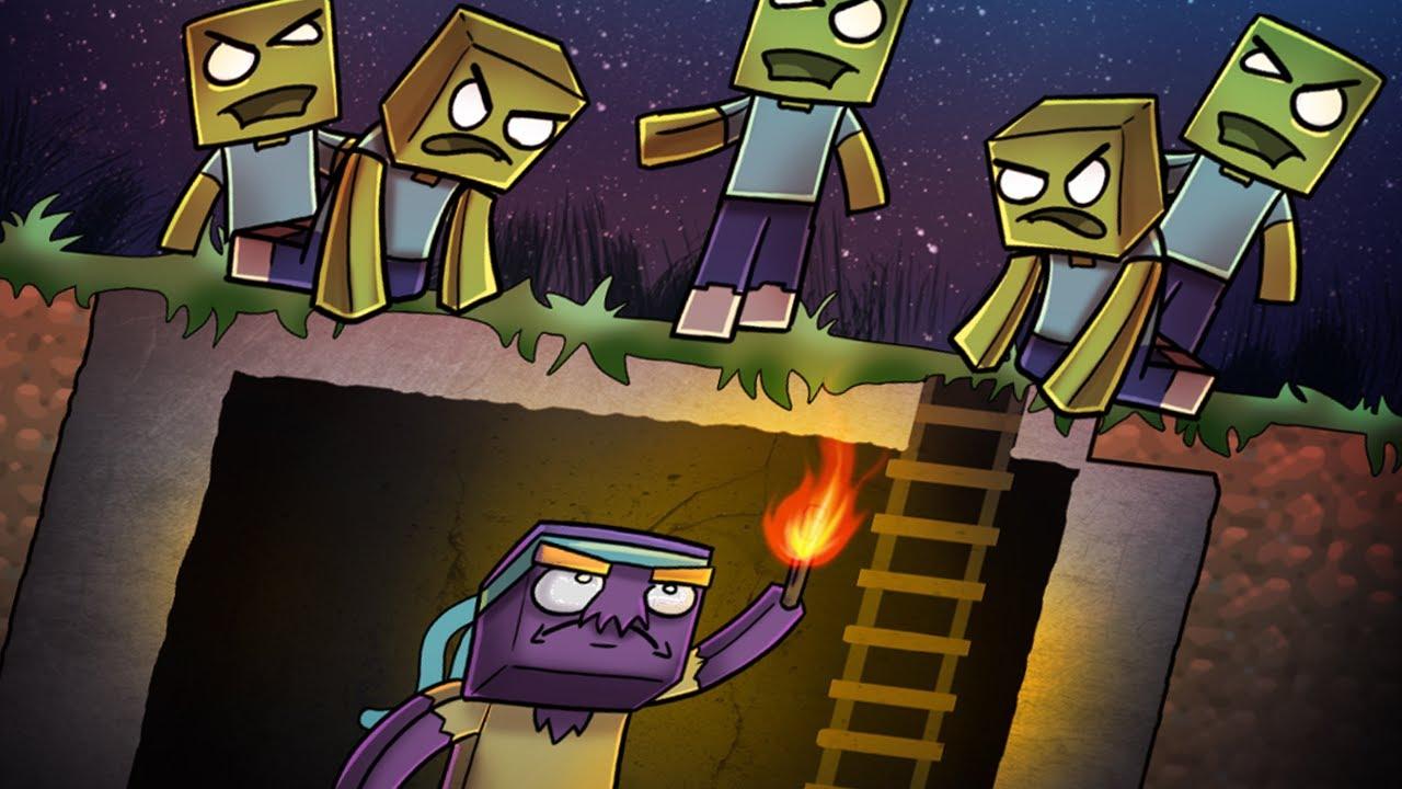 все зомби из игры майнкрафт картинки простое
