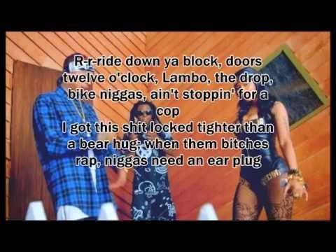 Young Money - Senile feat. Tyga, Nicki minaj & Lil Wayne (Lyrics On Screen)