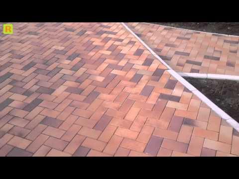 Тротуарная плитка (жжёный кирпич) стройка