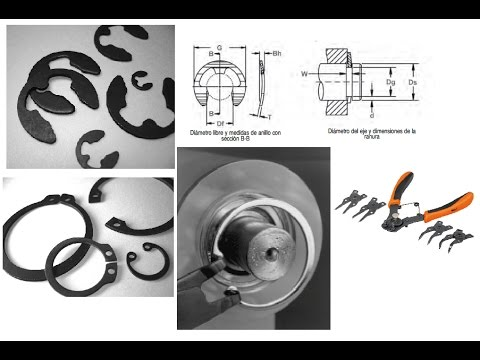 comprar online d6a35 9203a Anillos de retencion Retaining Rings diseño español 100% Aplicacion