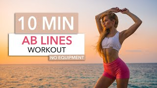 10 MIN AB LINES WORKOUT - efficient for middle, side & upper abs / No Equipment I Pamela Reif