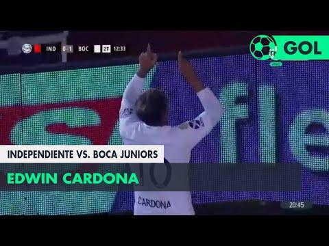 Edwin Cardona (0-1) Independiente vs Boca Juniors | Fecha 14 - Superliga Argentina 2018/2019