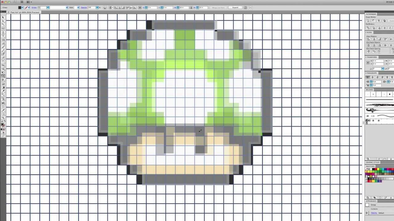 Pixel Art And Sprites In Adobe Illustrator