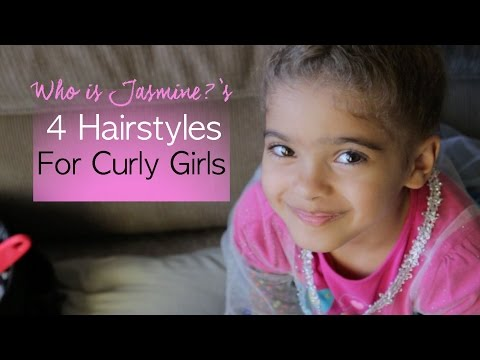 4 Easy Natural Hairstyles for Curly Girls | Jasmine Defined