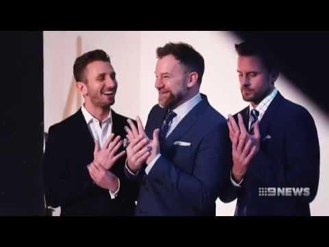 Nine  Polished Man segment with Michael Klim and Gyton Grantley