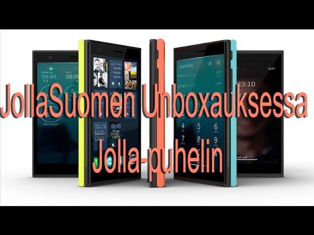 JollaSuomen Jolla-puhelimen unboxaus