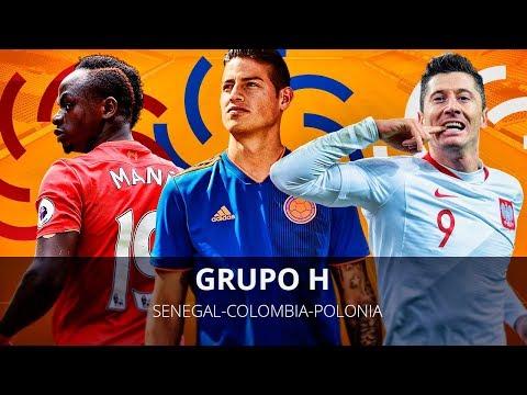 LA MEJOR PLANTILLA DE COLOMBIA , POLONIA Y SENEGAL !!! MUNDIAL RUSIA GRUPO H