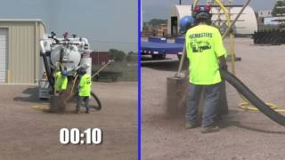 VACMASTERS Air Vacuum Excavation Demonstration and Facility Tour