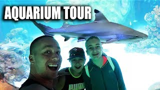 Their FIRST aquarium tour!
