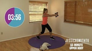 10 Minute Upper Body Workout  At Home Strength Training With Dumbbells, Fat Burning, Sculpting