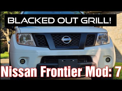 nissan frontier blacked out grill mod 7 youtube youtube