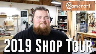 Small Workshop Tour 2019   Workshop Woodworking Woodturning