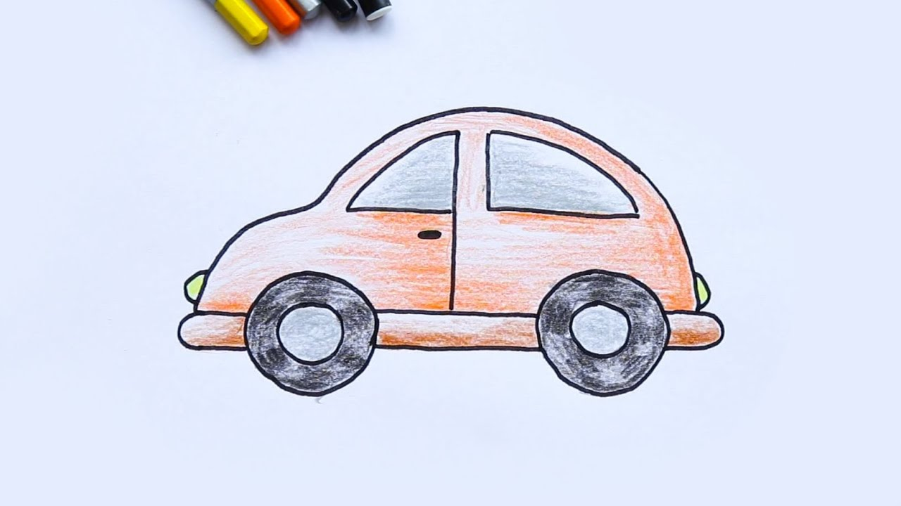 Draw and Coloring car - Tập vẽ và tô màu xe ô tô