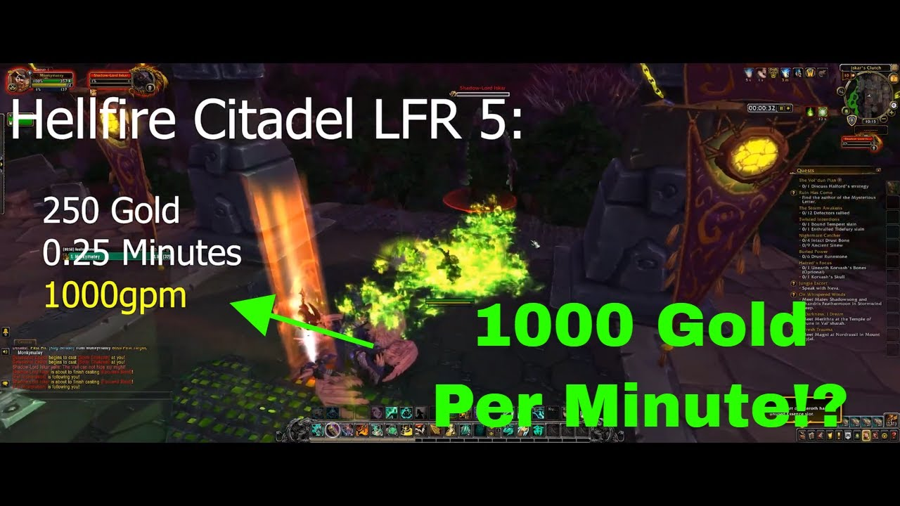 How To Make Gold In Wow Farming Warlords Of Draenor Raids Youtube
