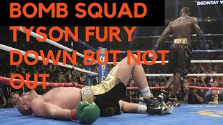 TYSON FURY GETS  KNOCKED OUT BY WILDER FOR 5 SECONDS AND GETS BACK UP REACTION