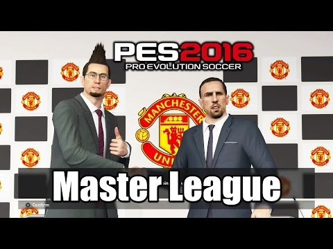 PES 2016 Master League Club Manchester United Lineup