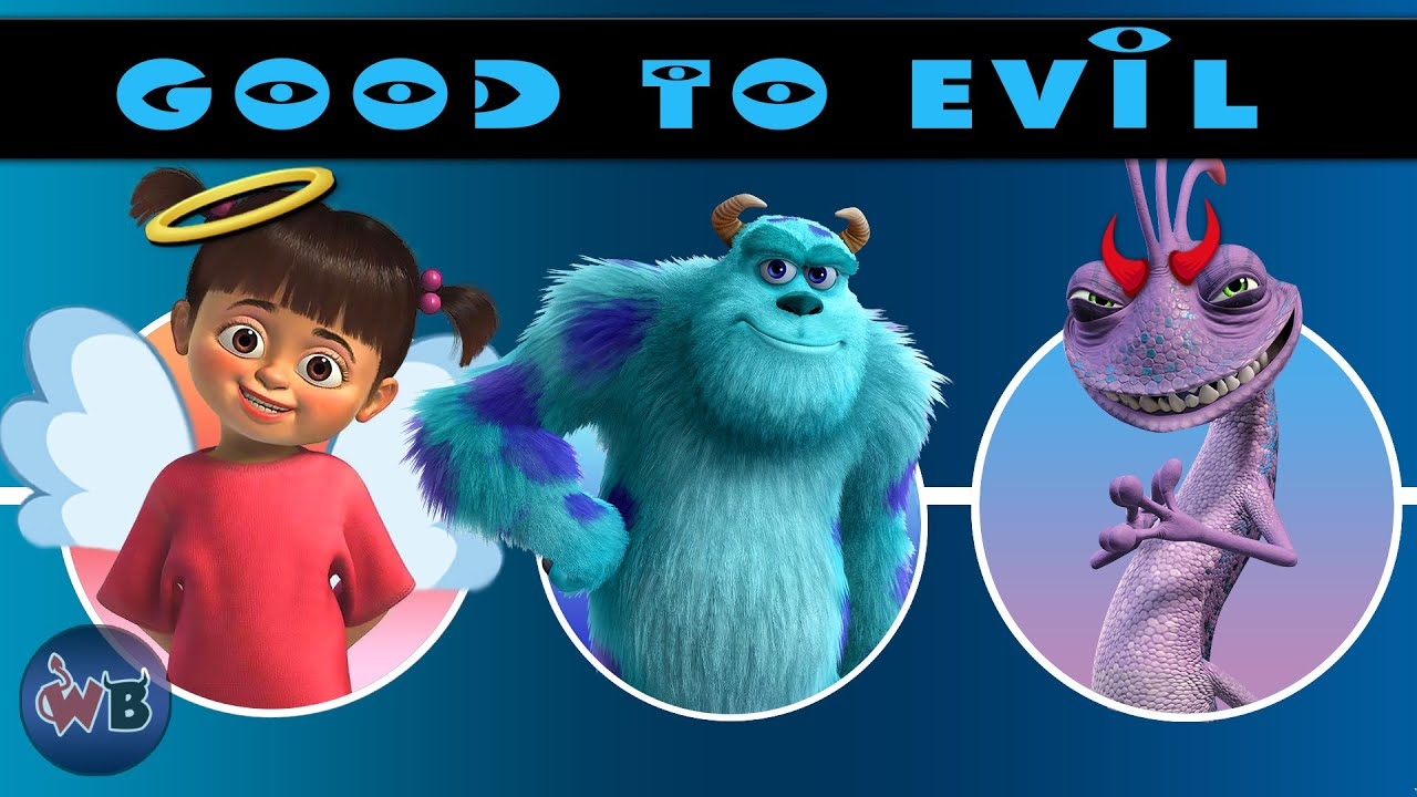 Monsters Inc University Characters Good To Evil Youtube