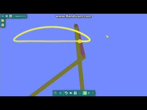 Chebyshev's linkage / mechanism │ Algodoo