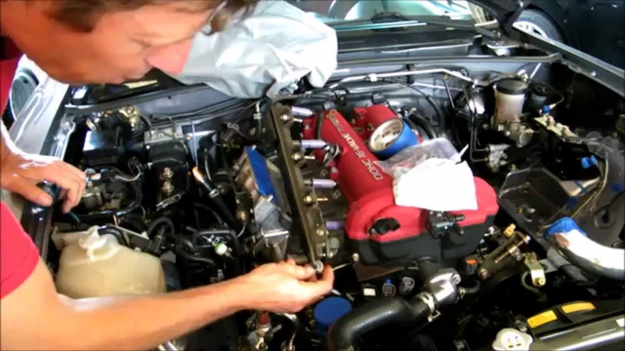 mazdaspeed engine removal part 4 fuel injectors