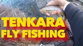 Tenkara fly fishing Deschutes River Tumalo Oregon