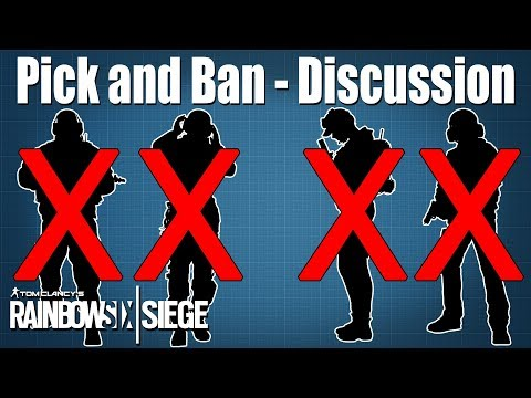 Let's discuss the Pick and Ban System: Rainbow Six Siege
