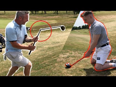 DISASTER ROUND OF GOLF! {DAD vs SON}