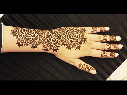 Roses Henna Design  Easy Arabic Floral Mehendi Design