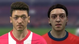 FIFA 14 vs PES 14 Head to Head Faces (3 angles view) | Arsenal | HD 1080p