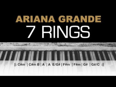 Download Ariana Grande - 7 Rings Karaoke Chords Piano Cover Instrumental Lyrics