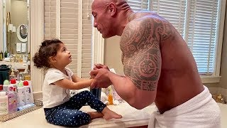 Dwayne Johnson Sings Maui's Rap Portion From Moana For Daughter Tia