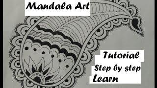mandala easy doodle draw step drawing beginners leaf tutorial