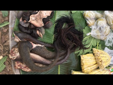 Thai Laos morning market - wild food market in Thailand EP:2